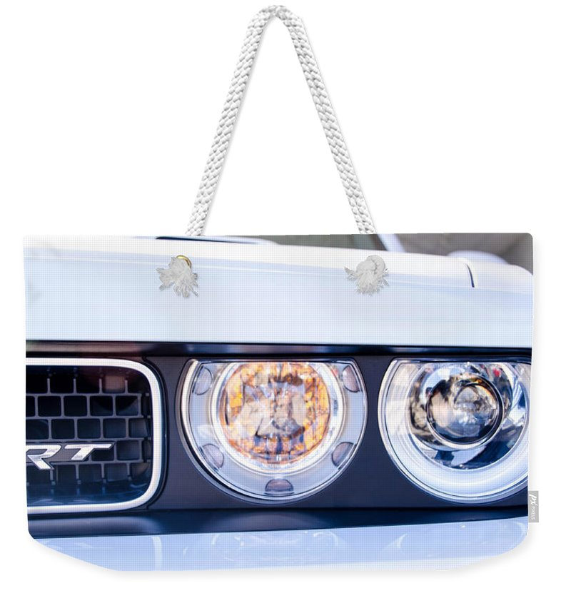 Automobile Weekender Tote Bag featuring the photograph SRT by Guy Whiteley