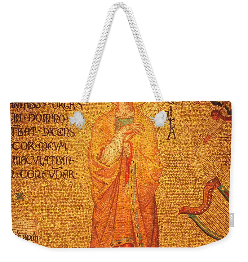 Saint Cecilia Weekender Tote Bag featuring the photograph St Cecilia by Philip Ralley