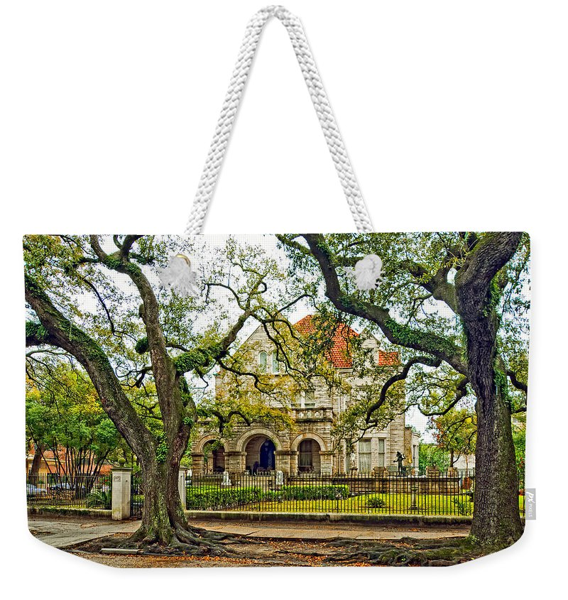 Home Weekender Tote Bag featuring the photograph St. Charles Ave. Mansion by Steve Harrington