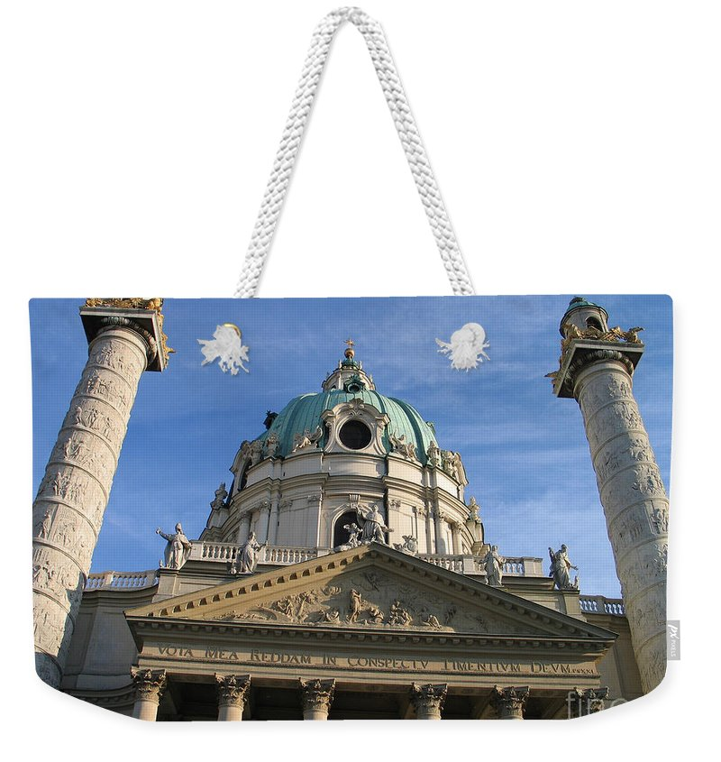 Karlskirche Weekender Tote Bag featuring the photograph St Charles Church Vienna Austria by Jason O Watson