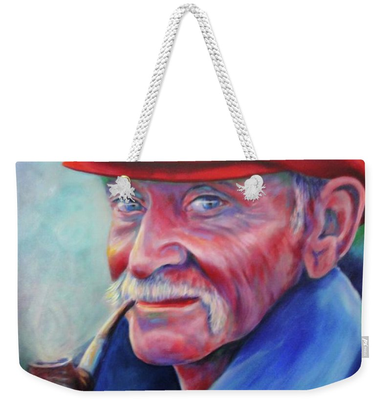 Portrait Weekender Tote Bag featuring the painting St. Francis by Shannon Grissom