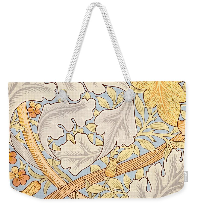 St James Weekender Tote Bag featuring the painting St James Wallpaper Design by William Morris