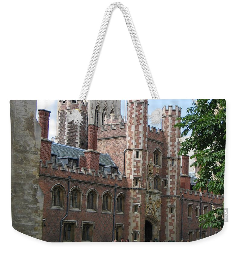 St. John's College Weekender Tote Bag featuring the photograph St. Johns College Cambridge by Jason O Watson