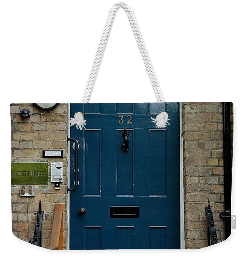 Blue Door Weekender Tote Bag featuring the photograph St John's Street by Joseph Yarbrough