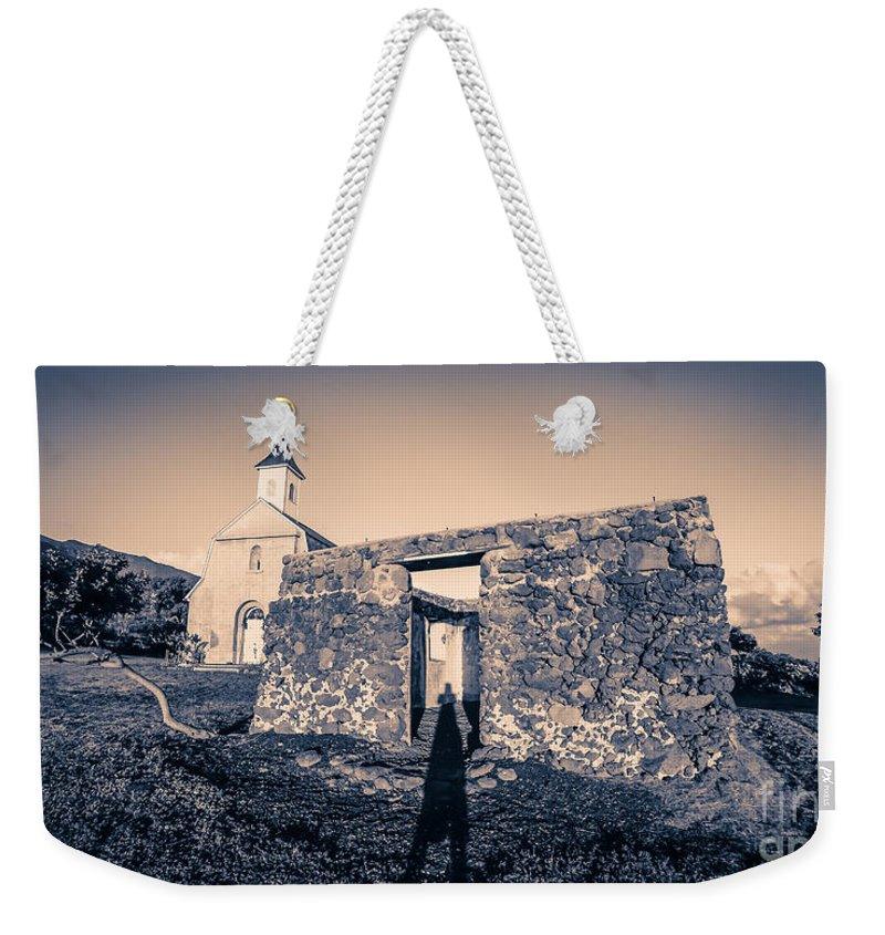 Hawaii Weekender Tote Bag featuring the photograph St. Josephs Church Maui Hawaii by Edward Fielding