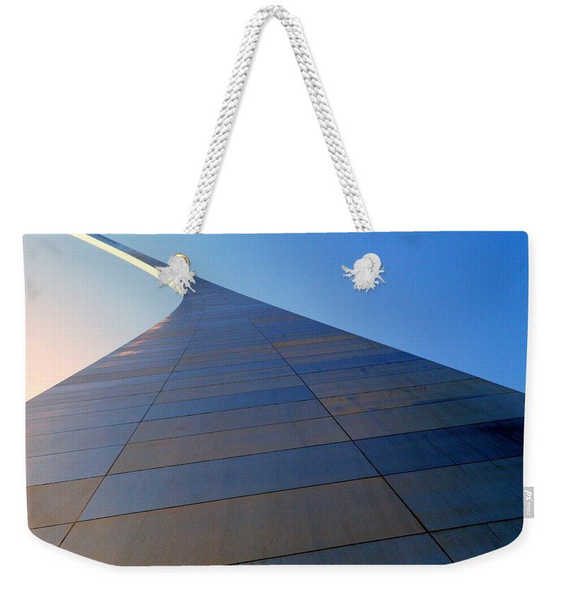 Arches Weekender Tote Bag featuring the photograph St. Louis Arch 2 by Kathy Barney