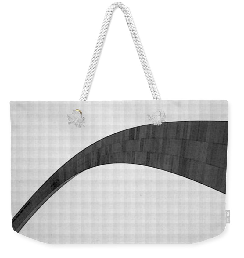 St. Louis Weekender Tote Bag featuring the photograph St. Louis Arch by Mary Bedy