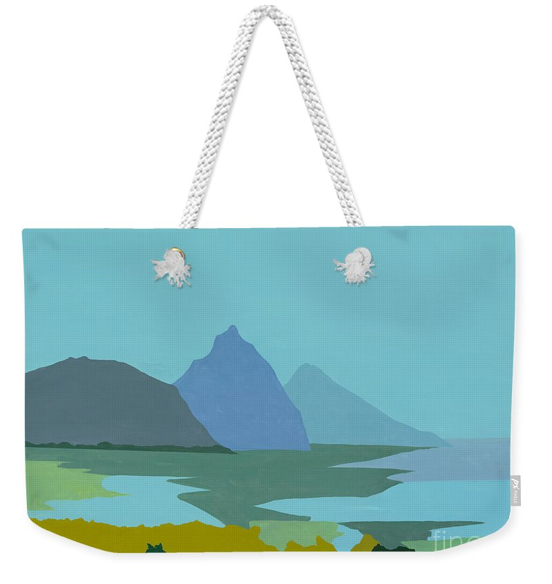 Canvas Prints Weekender Tote Bag featuring the painting St. Lucia - W. Indies II by Elisabeta Hermann