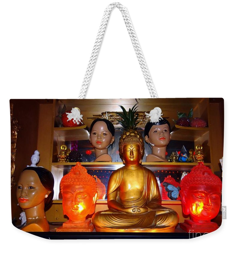 Dolls Weekender Tote Bag featuring the photograph St Marks Altar by Ed Weidman