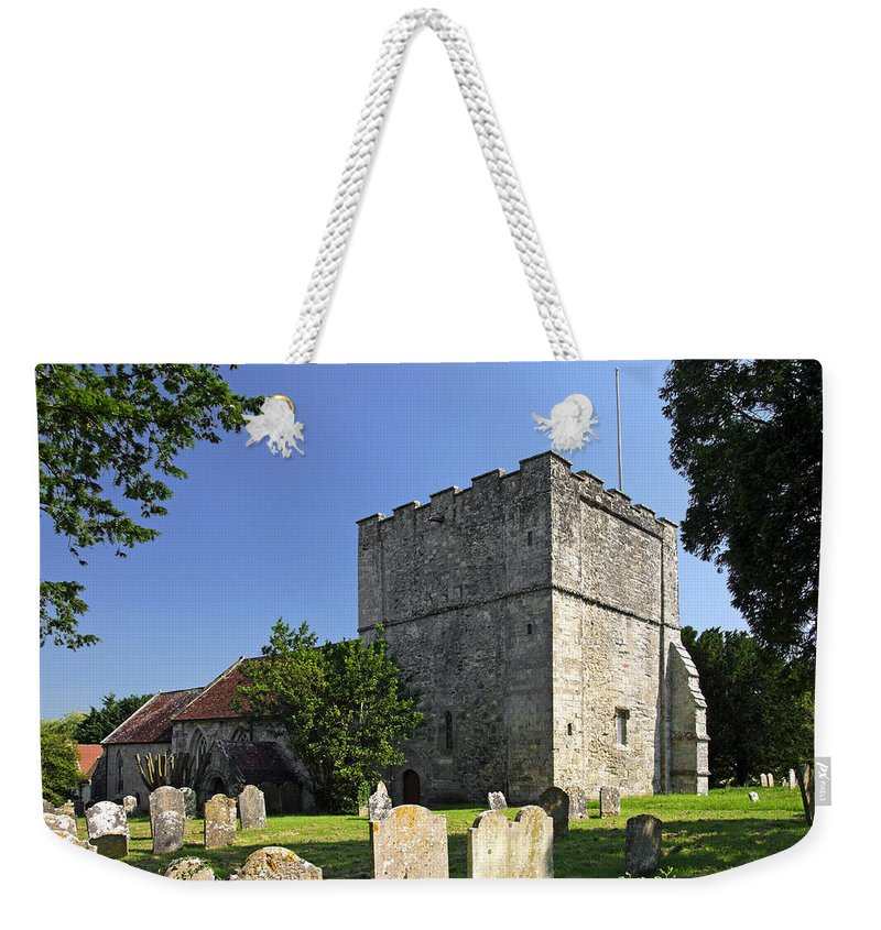 Britain Weekender Tote Bag featuring the photograph St Michael's Church - Shalfleet by Rod Johnson