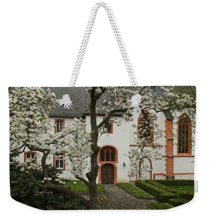 Abbey Weekender Tote Bag featuring the photograph St-nikolaus-hospital Bernkastel by TouTouke A Y