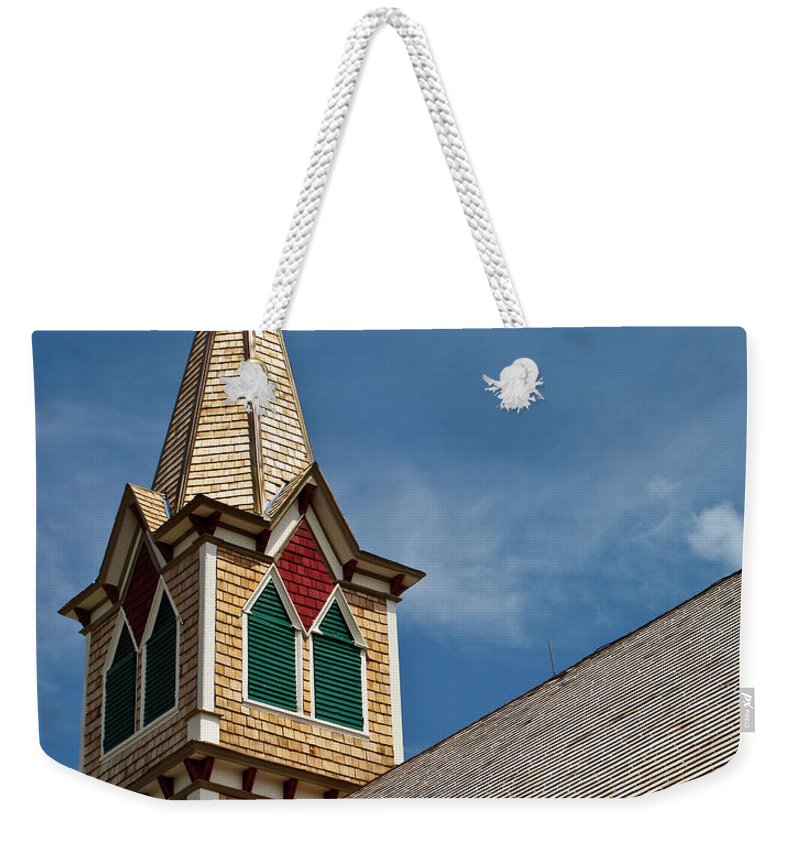 Architecture Weekender Tote Bag featuring the photograph St Olaf Steeple by David and Carol Kelly