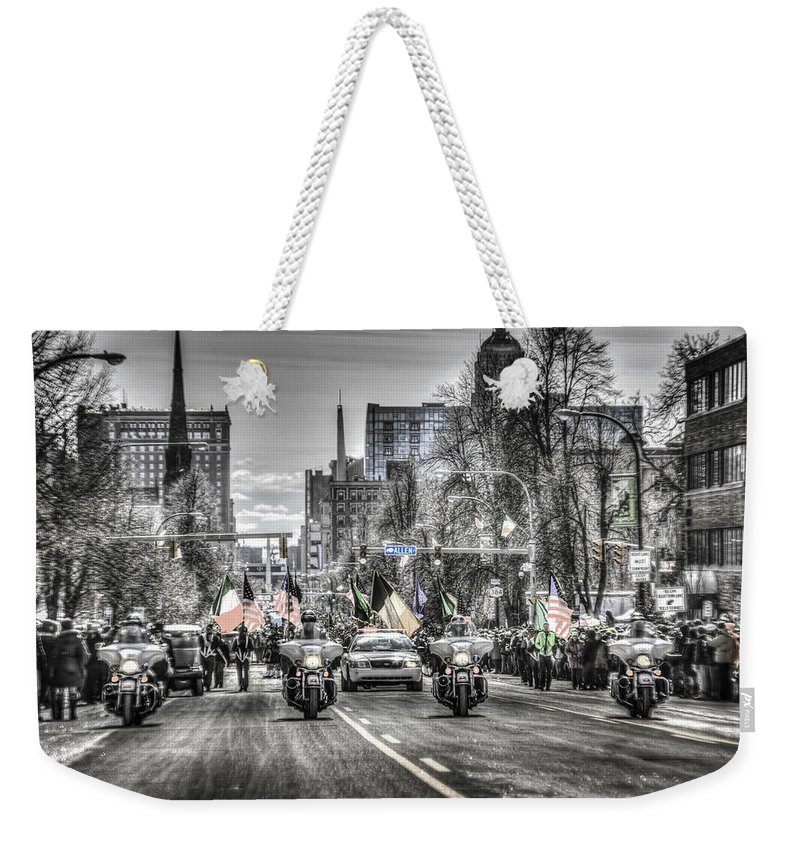 Buffalo Photographs Weekender Tote Bag featuring the photograph St Patrick by John Lattanzio