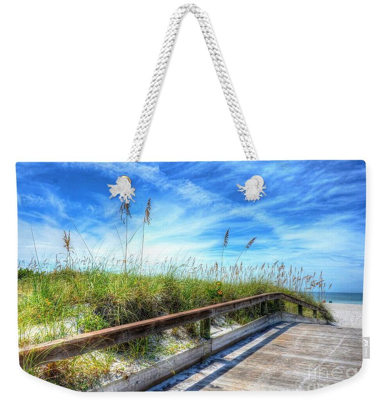 Beach Weekender Tote Bag featuring the photograph St. Pete Beach by Debbi Granruth