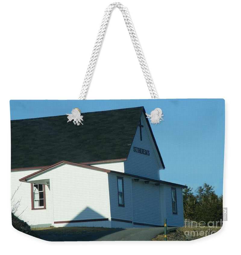 Church Weekender Tote Bag featuring the photograph St. Theresa's Church by Barbara Griffin