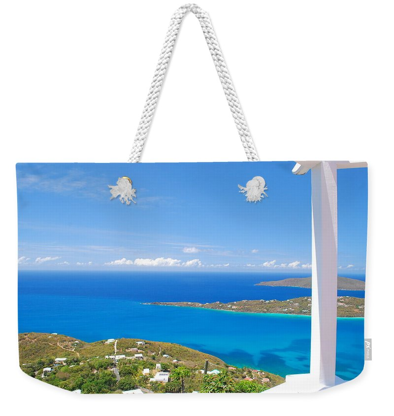Saint Weekender Tote Bag featuring the photograph St. Thomas by Gary Wonning