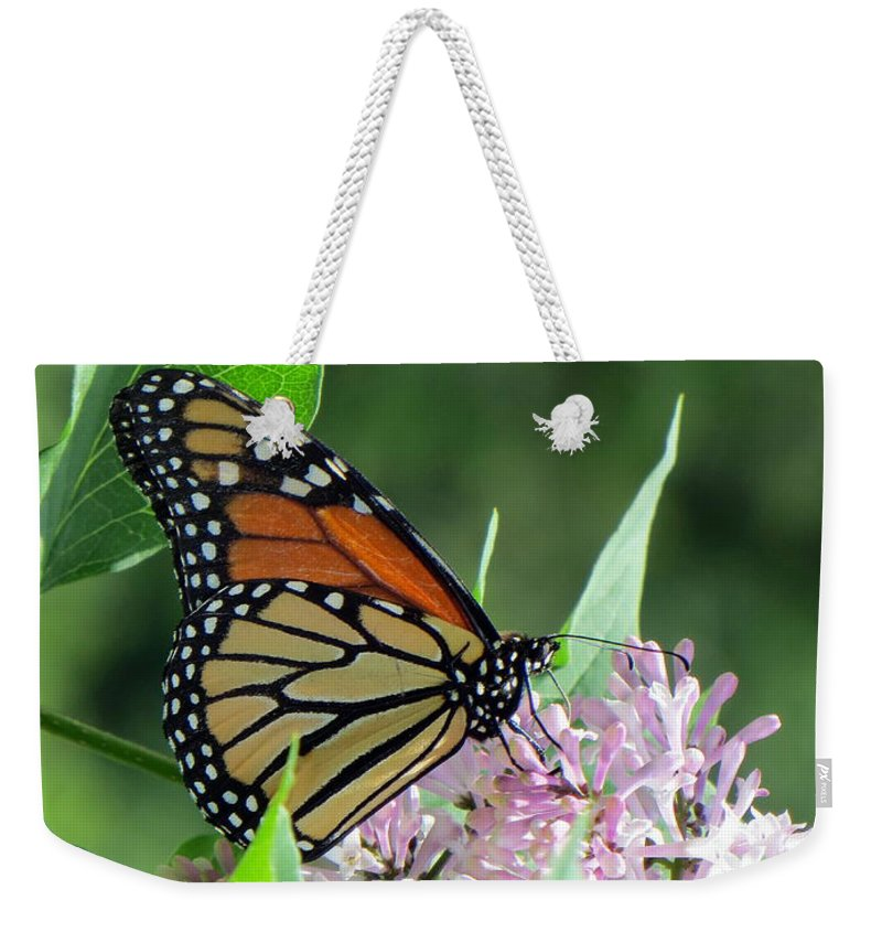 Bug Weekender Tote Bag featuring the photograph Marvelous Monarch by Jaunine Roberts