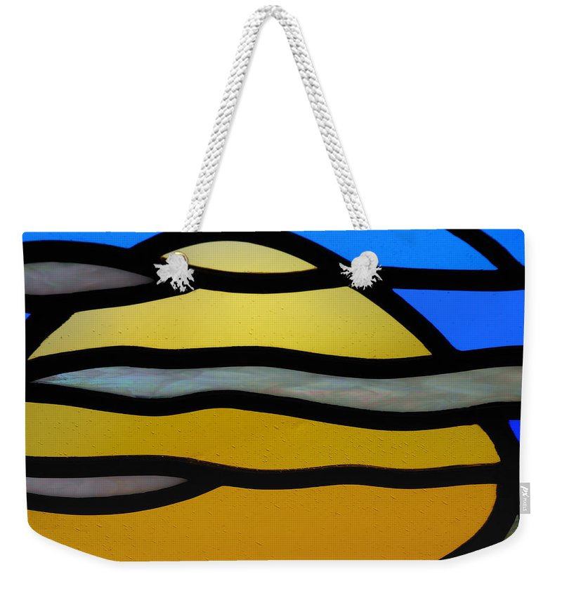Stained Weekender Tote Bag featuring the photograph Stained Glass Scenery 3 by Wendy Wilton