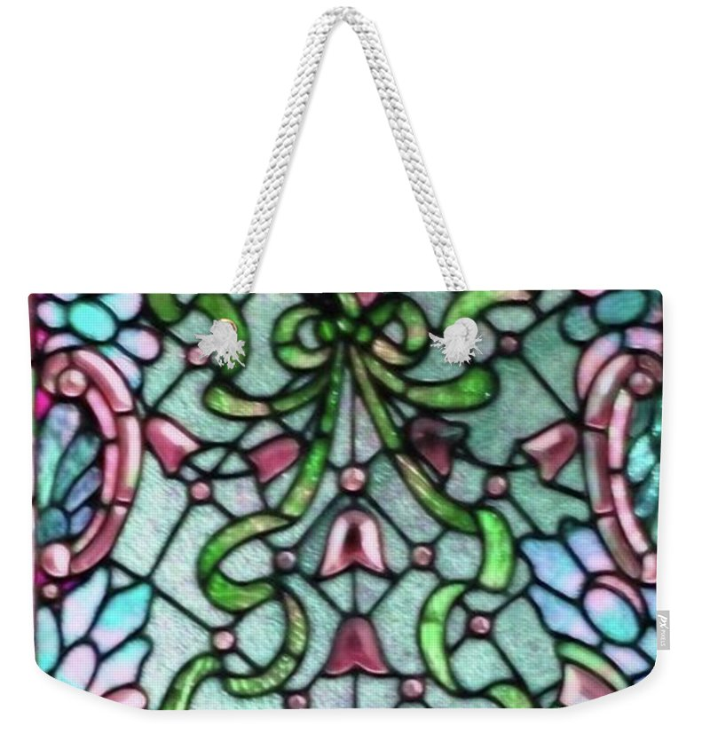 Stained Weekender Tote Bag featuring the photograph Stained Glass Window -2 by Kathleen Struckle