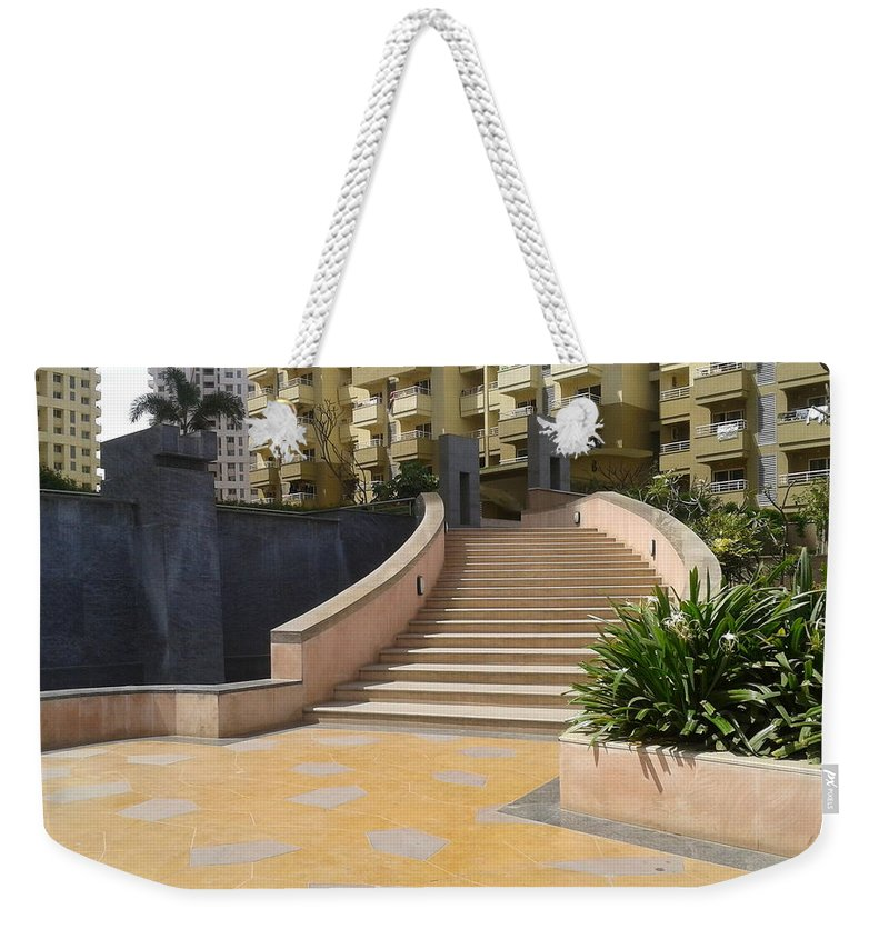 Stair Case Weekender Tote Bag featuring the photograph Stair Case by Artist Nandika Dutt