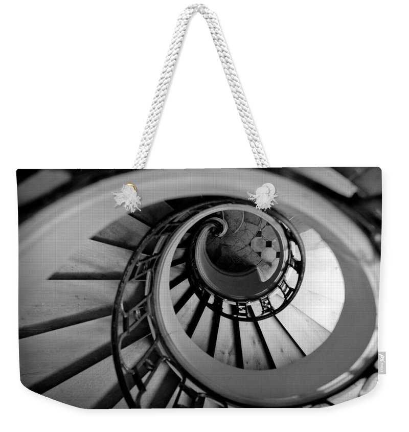 B&w Weekender Tote Bag featuring the photograph Staircase by Sebastian Musial
