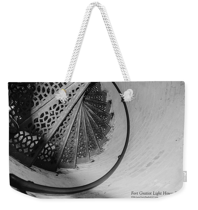 Usa Weekender Tote Bag featuring the photograph Stairs At The Fort Gratiot Light House by LeeAnn McLaneGoetz McLaneGoetzStudioLLCcom