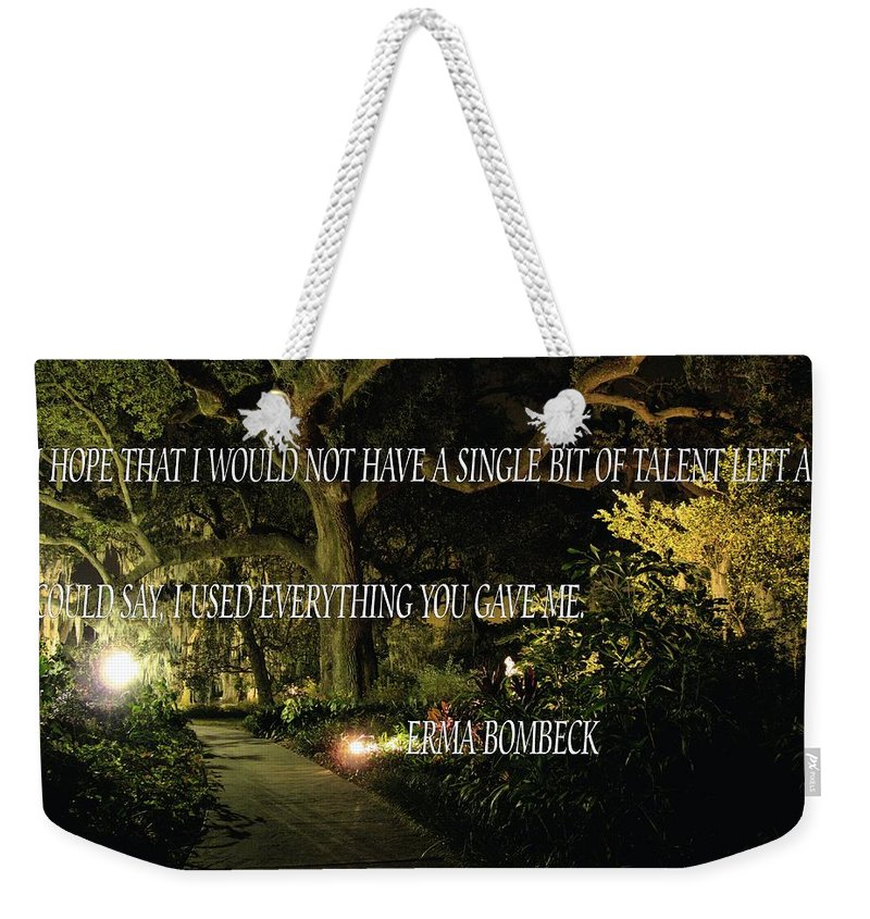 Weekender Tote Bag featuring the photograph Stand by Anthony Walker Sr
