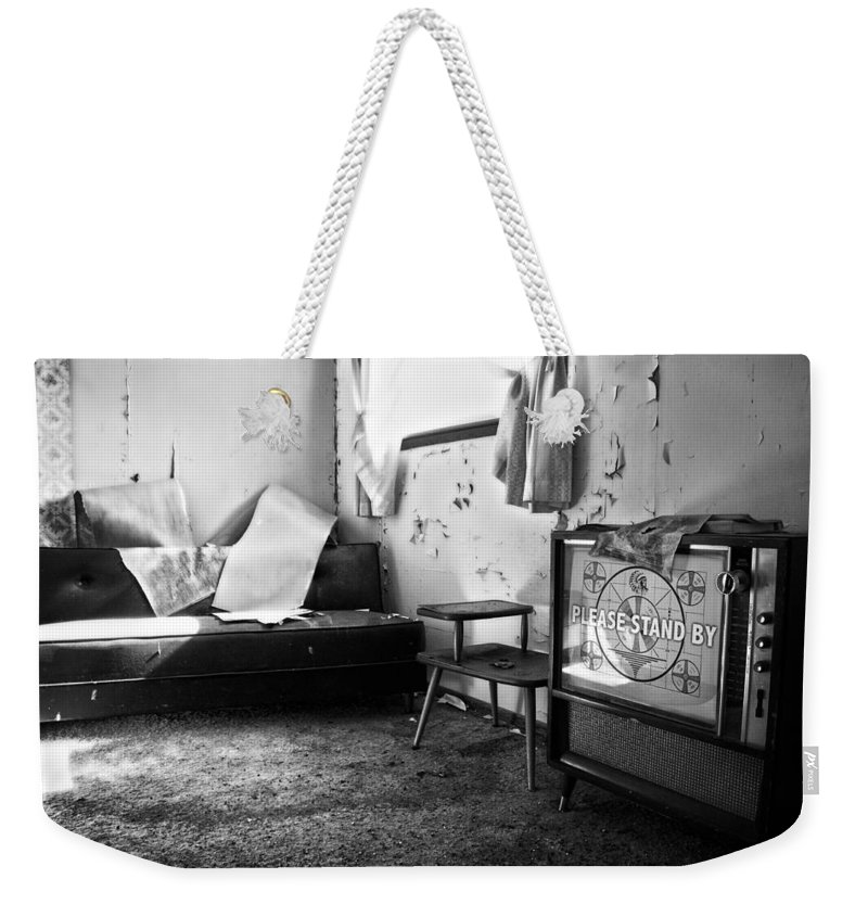 Black And White Weekender Tote Bag featuring the photograph Stand By by The Artist Project