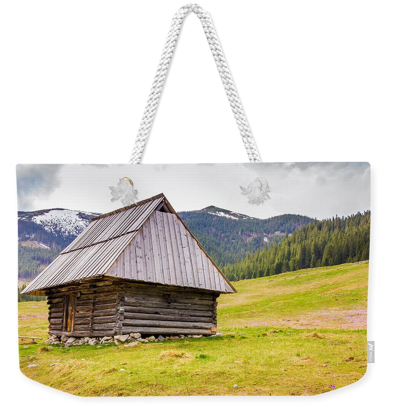 Landscape Weekender Tote Bag featuring the photograph Standing Alone by Pati Photography