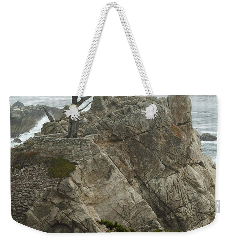 Monterey California Weekender Tote Bag featuring the photograph Standing Tall On The Rock by Robert Mollett