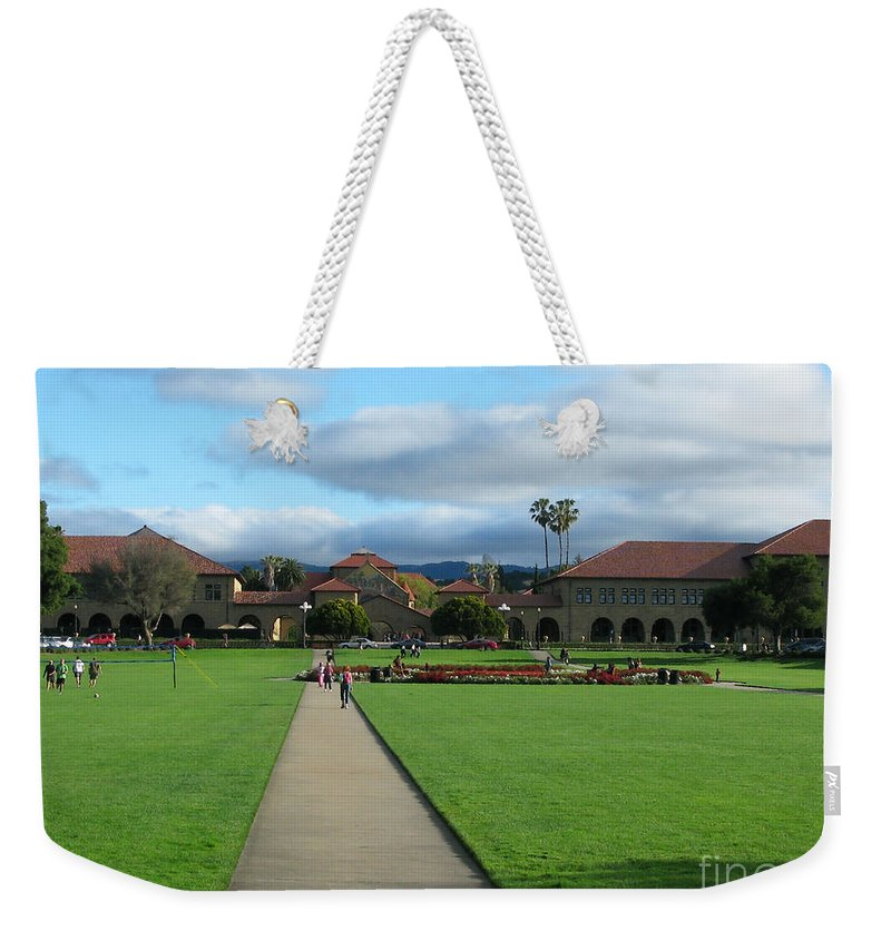 Stanford University Weekender Tote Bag featuring the photograph Stanford University by Mini Arora