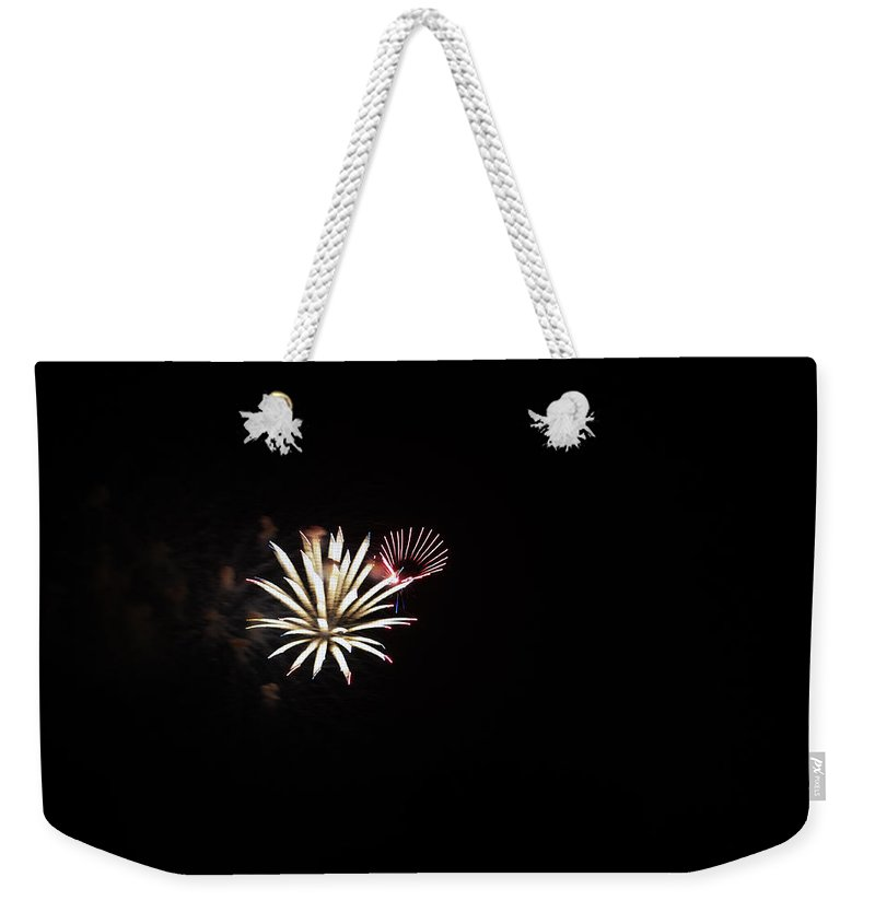 Fireworks Weekender Tote Bag featuring the photograph Star Bursts by Edward Hawkins II