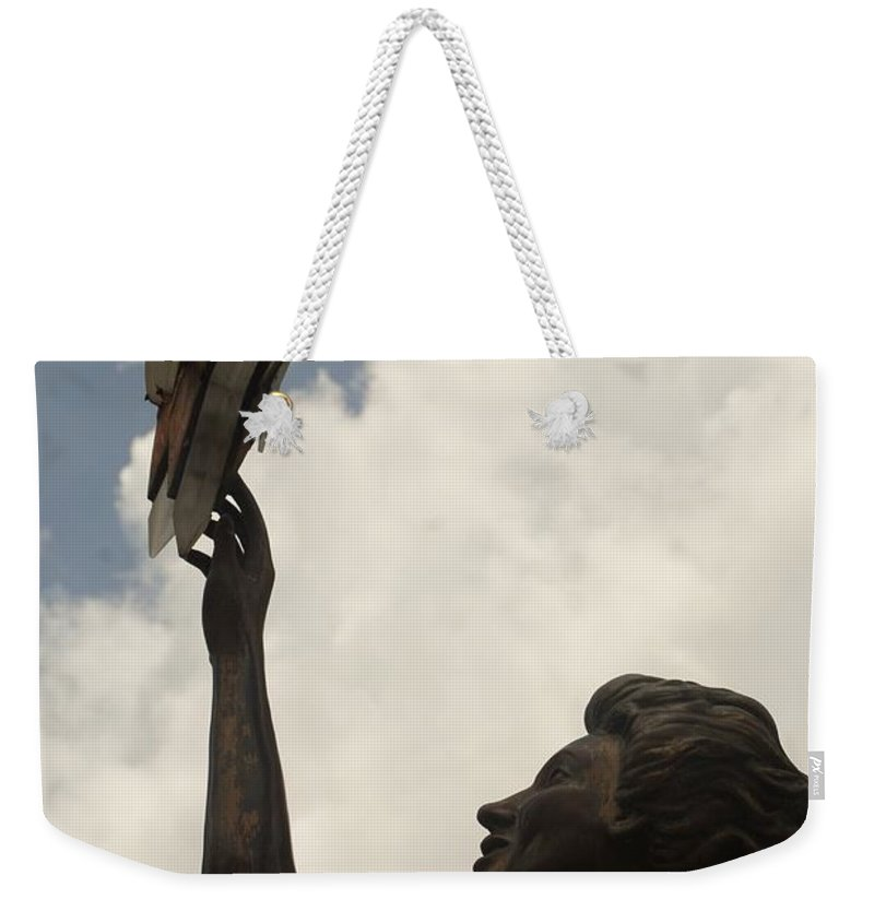Sculptures Weekender Tote Bag featuring the photograph Star Clouds Sky by Rob Hans