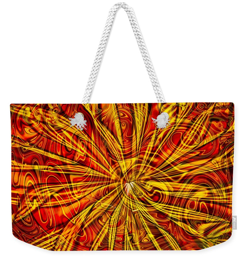 Georgia Okeefe Weekender Tote Bag featuring the painting Star Light Star Bright by Omaste Witkowski