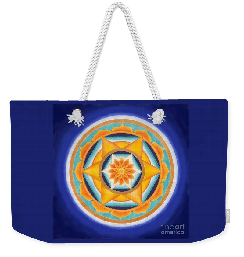 Mandala Weekender Tote Bag featuring the painting Star Of Energy by Mayki Wiberg