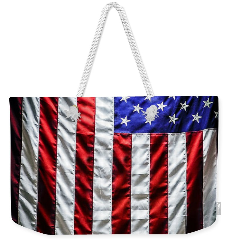 the Star-spangled Banner Weekender Tote Bag featuring the photograph Star Spangled Banner by Sennie Pierson