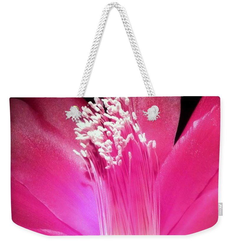Hot Pink Weekender Tote Bag featuring the photograph Stardust by Karen Wiles