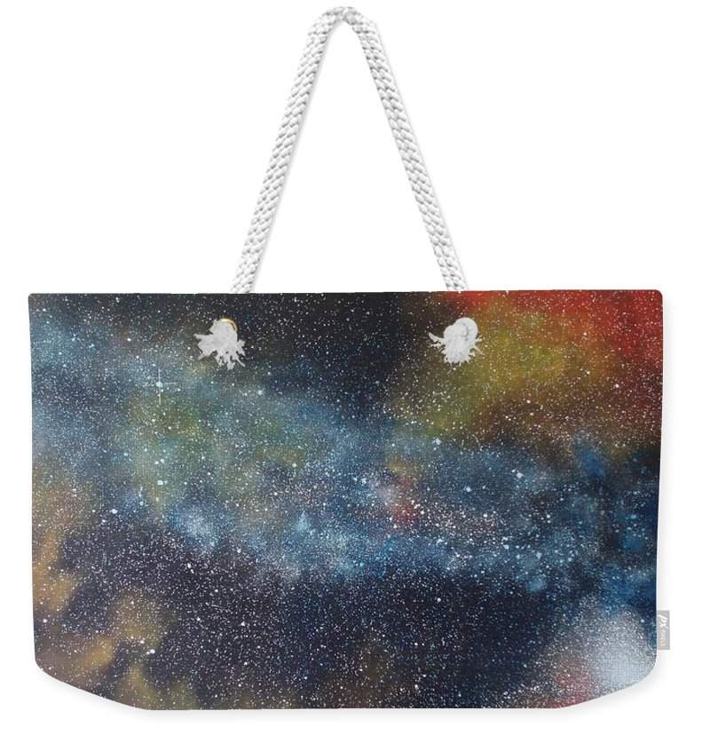 Oil Painting On Canvas Weekender Tote Bag featuring the painting Stargasm by Sean Connolly