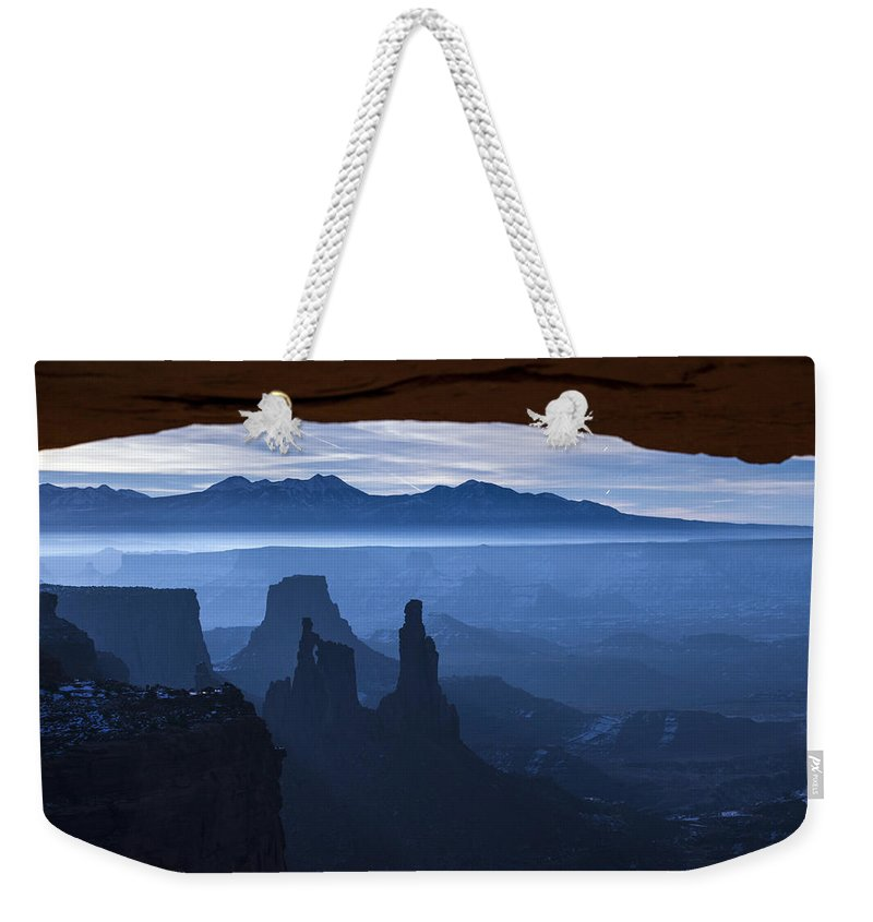 Utah Weekender Tote Bag featuring the photograph Starlit Mesa by Dustin LeFevre