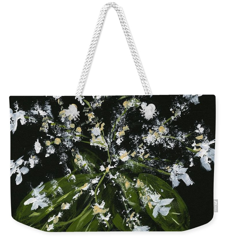 Flowers Weekender Tote Bag featuring the painting Stars by Alice Faber