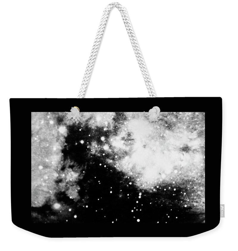 Art Weekender Tote Bag featuring the photograph Stars And Cloud-like Forms In A Night Sky by Duane Michals