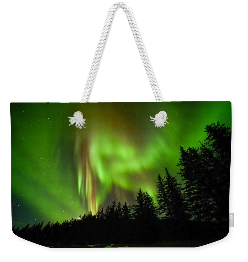 Aurora Weekender Tote Bag featuring the photograph Stars And Stripes by Ted Raynor