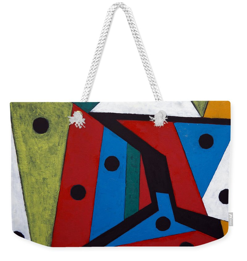 Acrylic Weekender Tote Bag featuring the painting Stars by Sergey Bezhinets