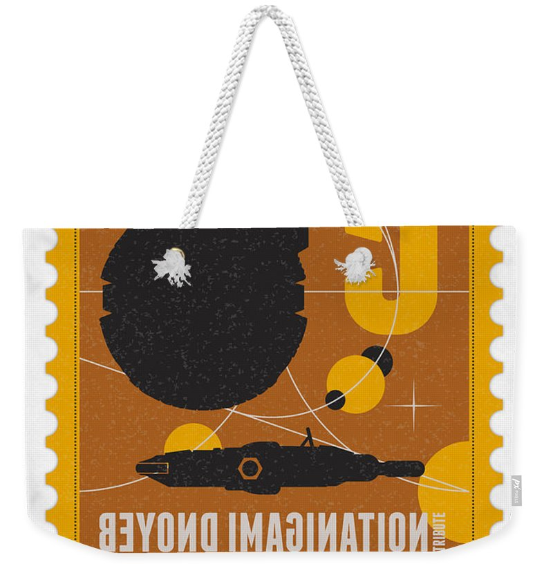 Minimal Weekender Tote Bag featuring the digital art Starschips 05-poststamp -star Wars by Chungkong Art
