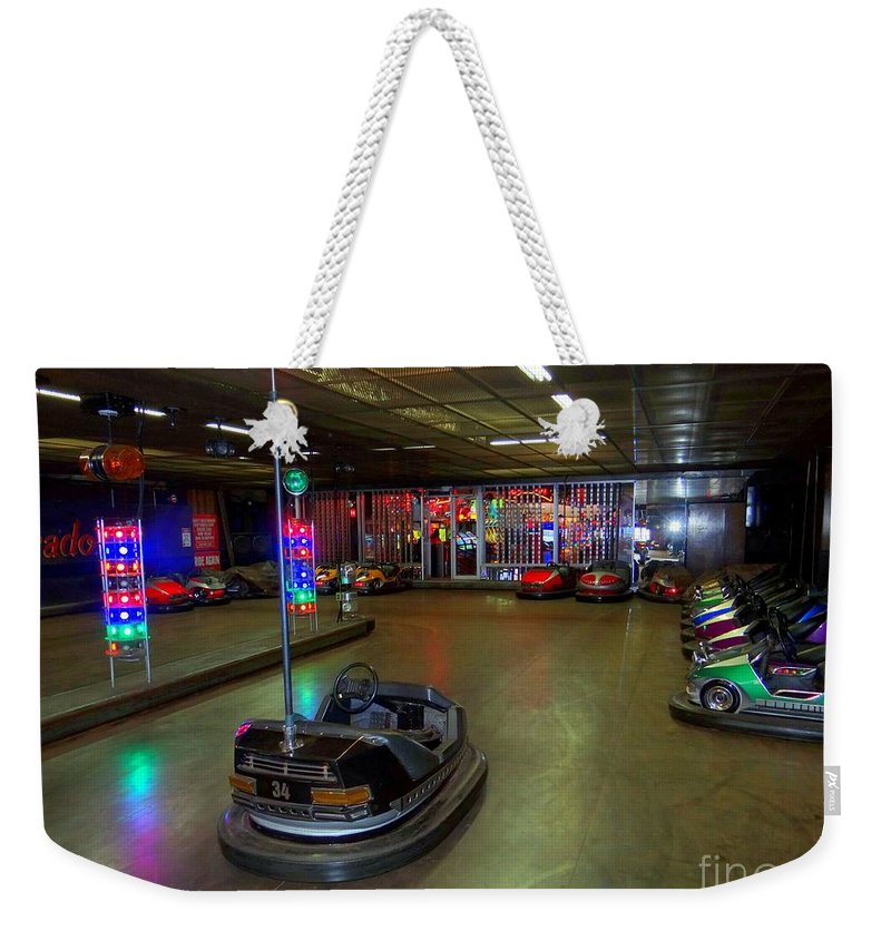 Bumper Cars Weekender Tote Bag featuring the photograph Start Your Engines by Ed Weidman