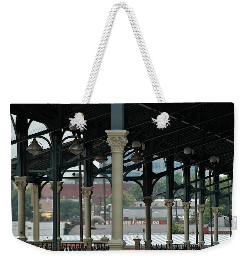Cast Iron Weekender Tote Bag featuring the photograph Station by Joseph Yarbrough