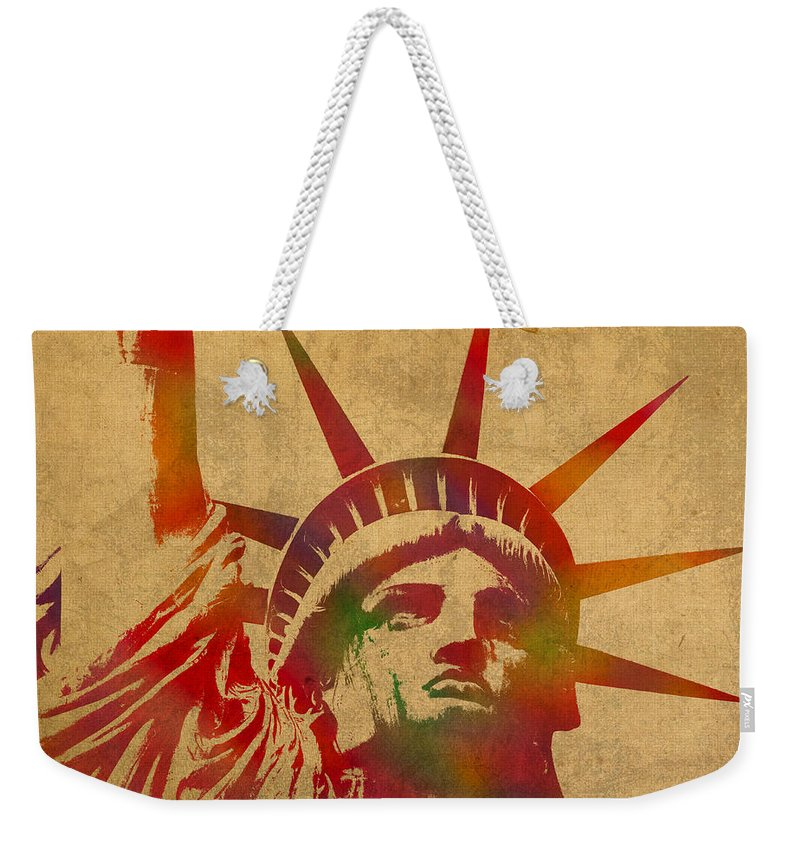 Statue Of Liberty Weekender Tote Bags