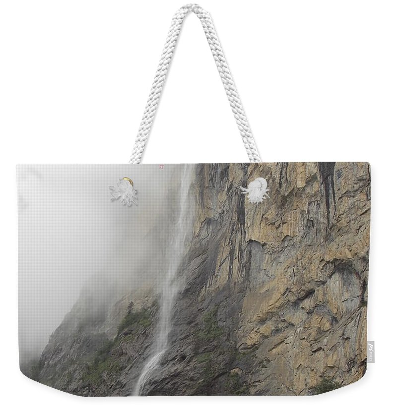 Staubbach Weekender Tote Bag featuring the photograph Staubbach Falls by Nina Kindred
