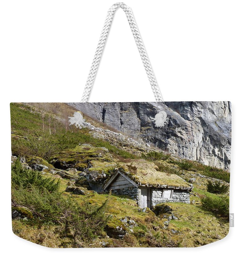 Weekender Tote Bag featuring the photograph Stavbergsetra - Cowherd Huts by Katerina Naumenko