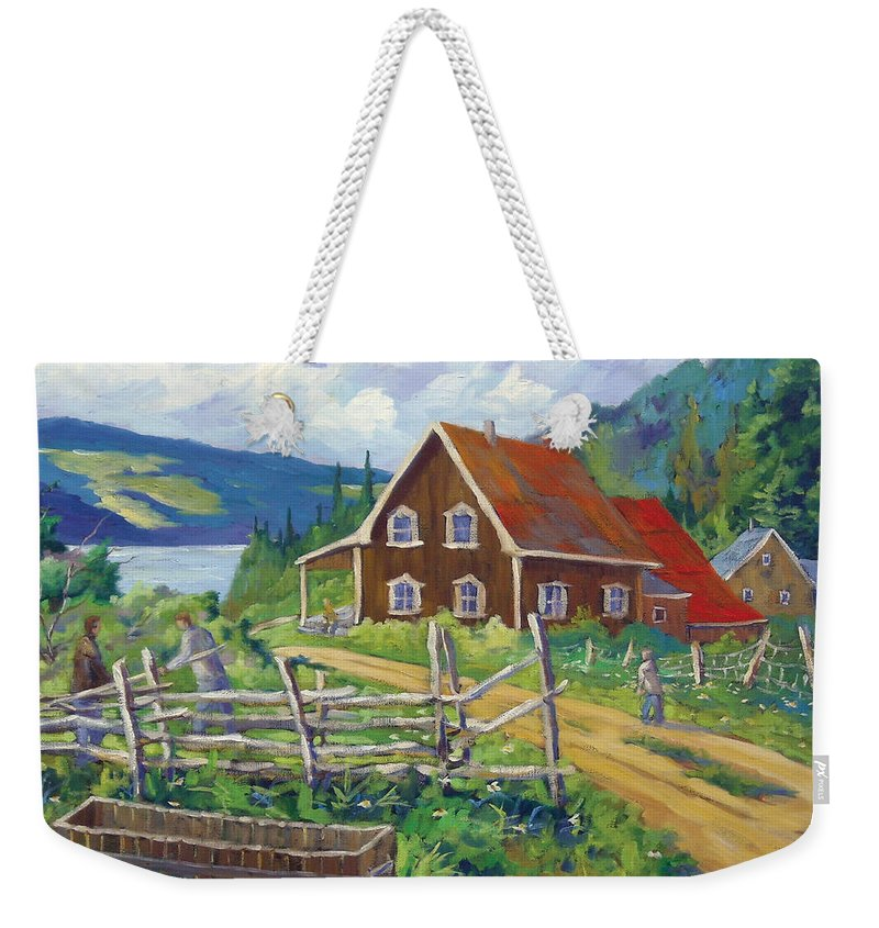 Art Weekender Tote Bag featuring the painting Ste-rose Du Nord by Richard T Pranke